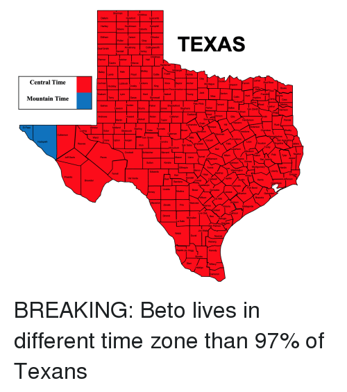 time zone for texas