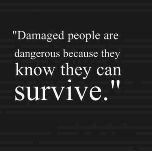 Love Each Other When Two Souls: Damaged People Are Dangerous Because They Know They Can