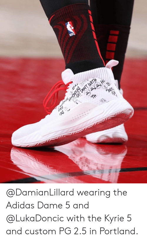 best service 1a147 94cb8 Adidas, Portland, and Custom   DamianLillard wearing the Adidas Dame 5 and