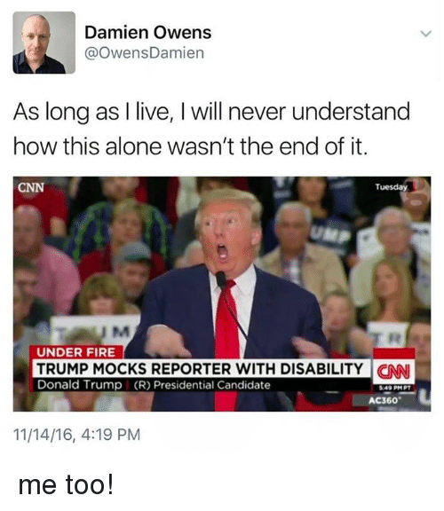 Trump Mocks Reporter With Disability