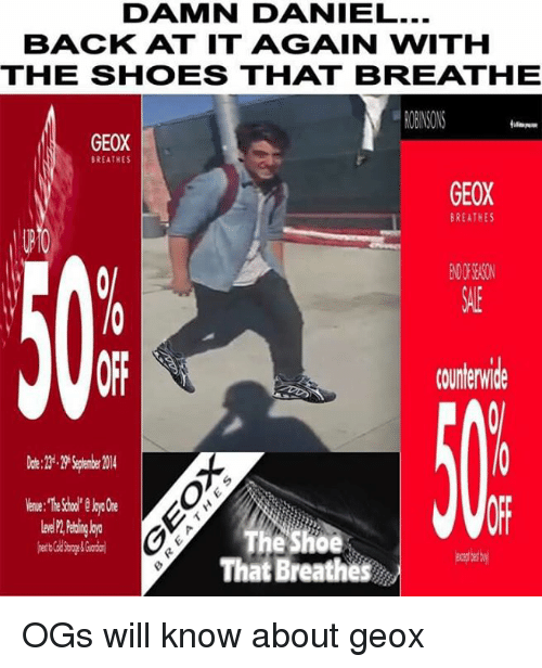 44867cf18de3 DAMN DANIEL BACK AT IT AGAIN WITH THE SHOESS THAT BREATHE GEOX ...