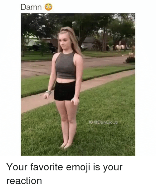 Emoji, Memes, and 🤖: Damn  IG @DailyGloUp Your favorite emoji is your reaction