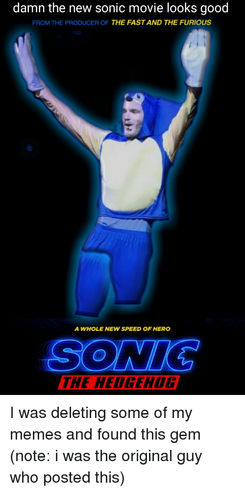 Damn the New Sonic Movie Looks Good FROM THE PRODUCER OF ...