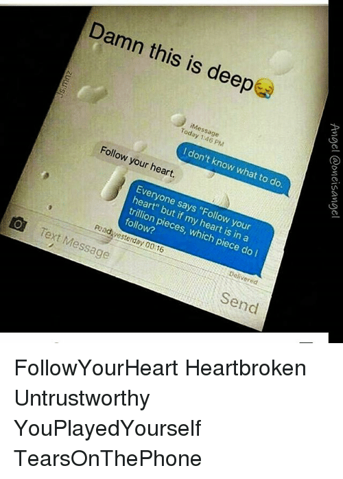 Heart broken text messages