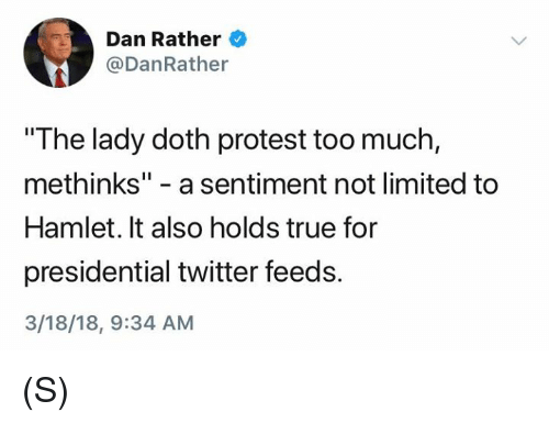 The lady protests too much