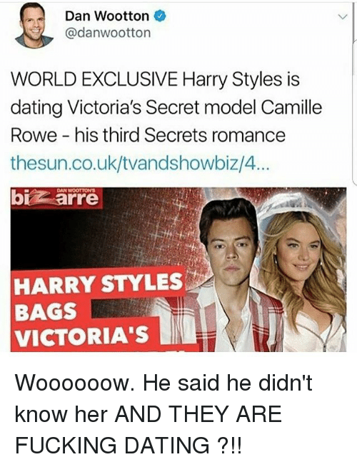 harry dating a victorias secret model speed dating conceito
