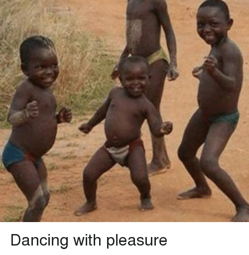 Dancing, Funny, and African Child: Dancing with pleasure