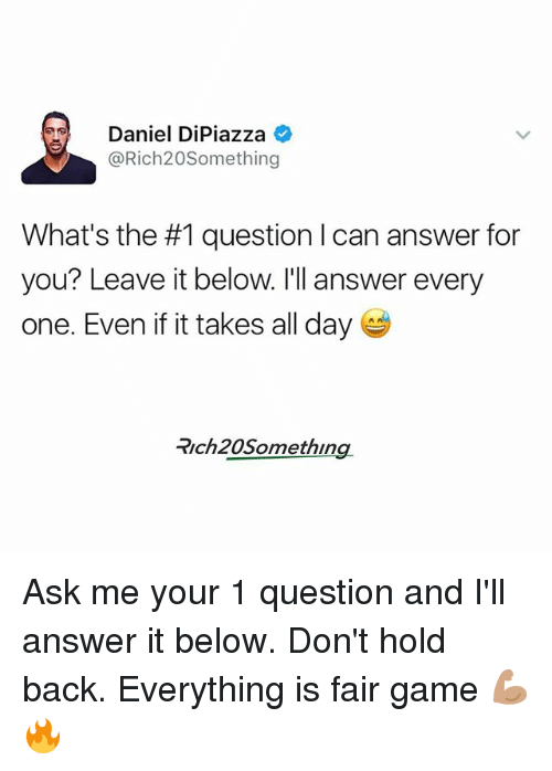 8d760538d620f Daniel DiPiazza What s the  1 Question L Can Answer for You  Leave ...