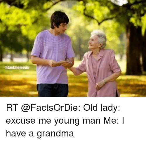 Old lady young guy