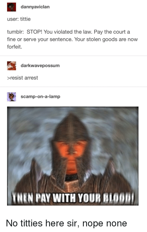Dannyaviclan User Tittie Tumblr Stop You Violated The Law Pay The