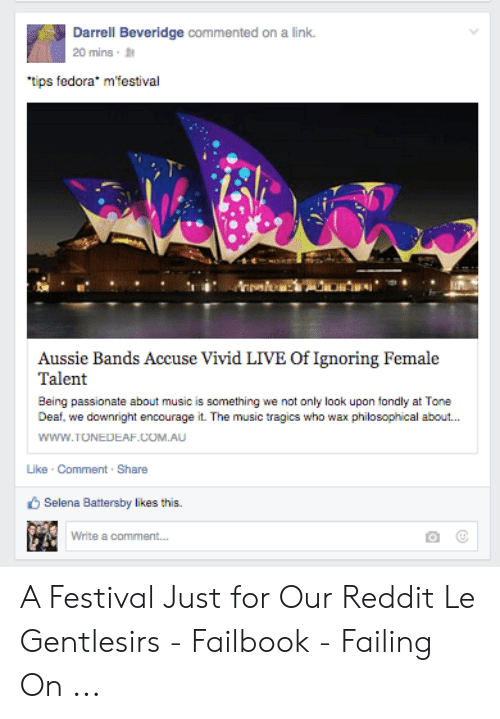 Darrell Beveridge Commented on a Link 20 Mins Tips Fedora* Mfestival