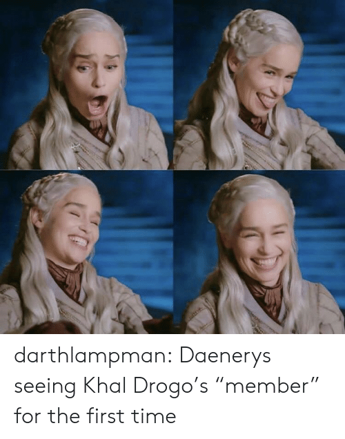 """Tumblr, Khal Drogo, and Blog: darthlampman:  Daenerys seeing Khal Drogo's """"member"""" for the first time"""