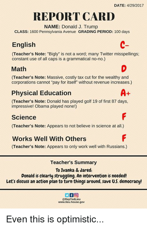 All A Report Card