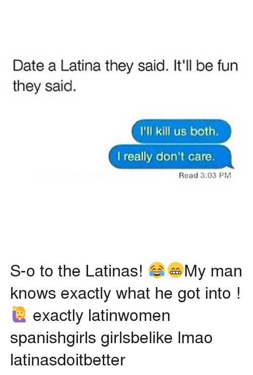 Rules for dating a latinas