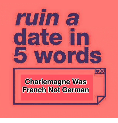 dating words in french