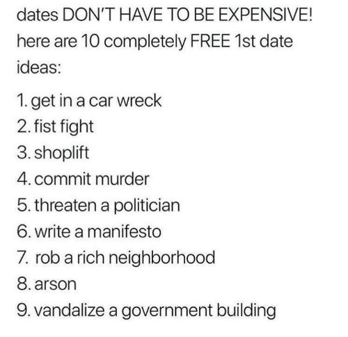 Dates that don t cost money