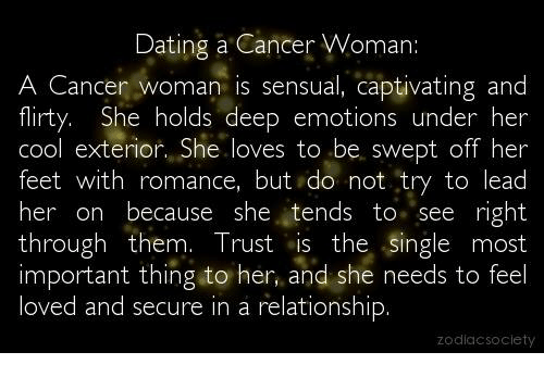 Dating cancer sign woman