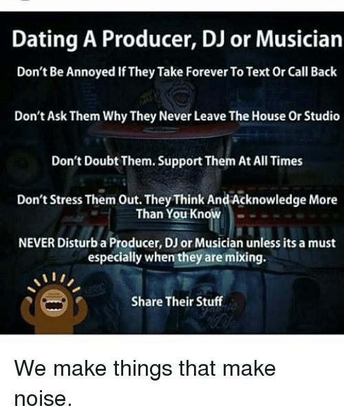 how to handle dating a musician