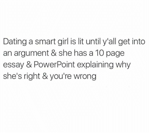 Cons Of Dating A Smart Girl