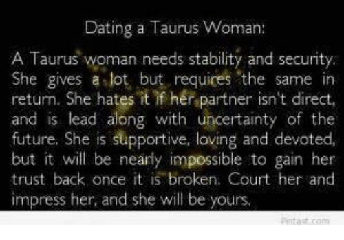 What Is It Like Dating A Taurus Woman