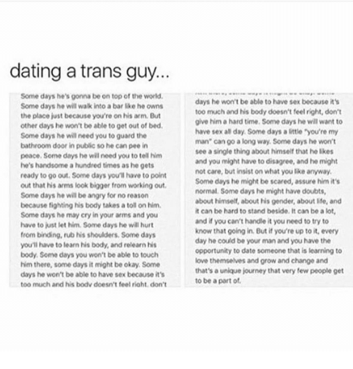 dating transguy