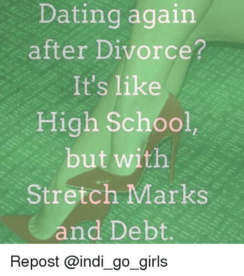 how do i start dating again after a divorce