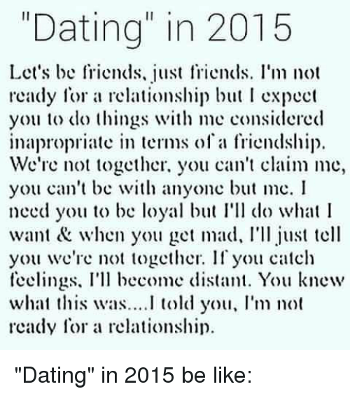 just friends dating