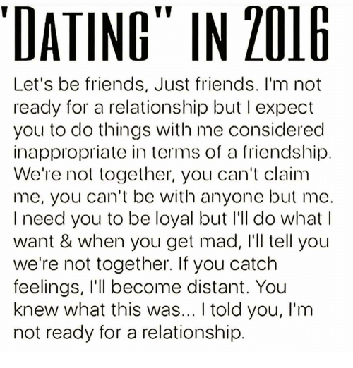 Dating and lets be friends