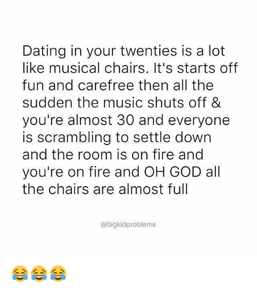 Dating In Your 20s Is Like Musical Chairs