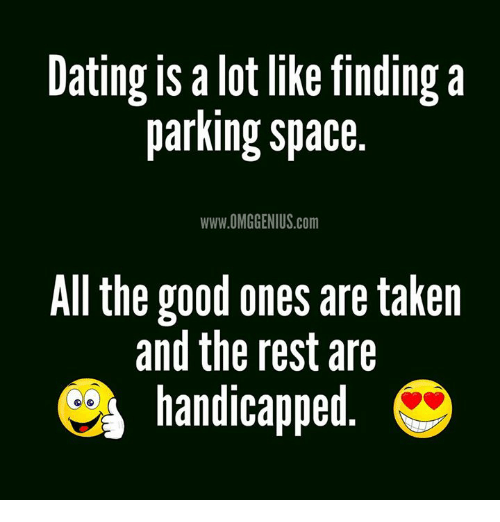 dating is a lot like finding a parking space