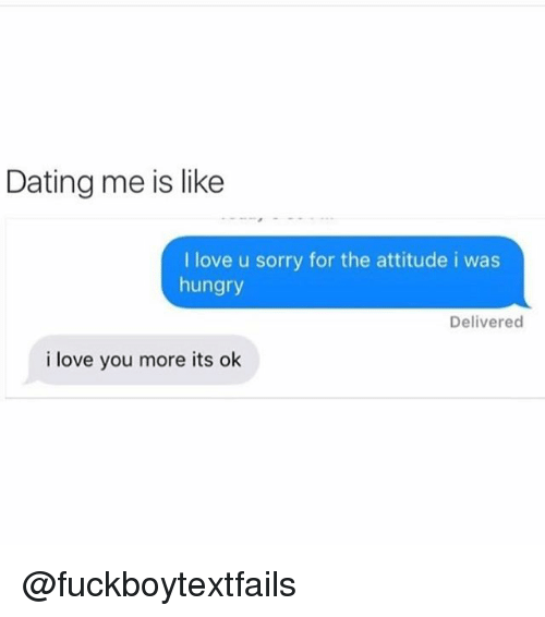 Dating is like