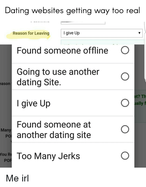 Too many dating sites