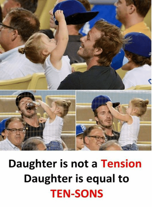 Memes, 🤖, and Daughter: Daughter is not a Tension  Daughter is equal to  TEN-SONS