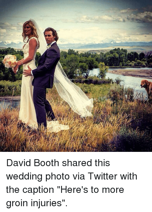 david booth shared this wedding photo via twitter with the caption
