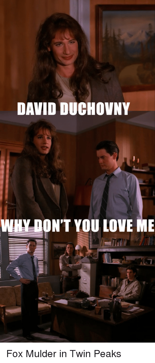 David Duchovny Why Dont You Love Me Fox Mulder In Twin Peaks Love