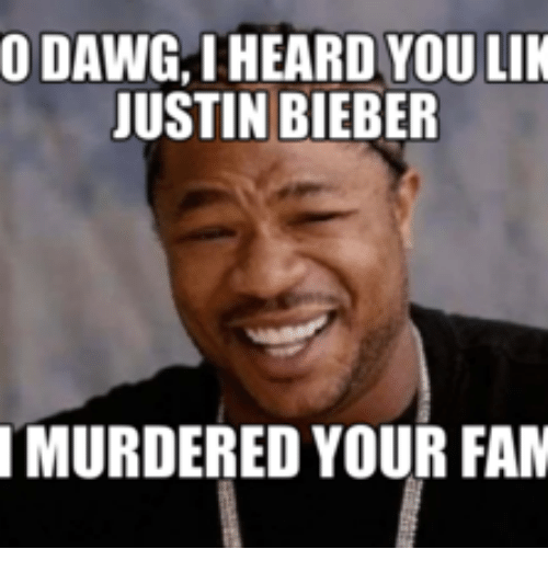 Search Justin Bieber Memes On SIZZLE