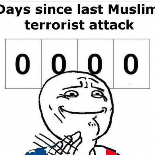 School Shooting Europe: Days Since Last Muslim Terrorist Attack 0 0 0 0