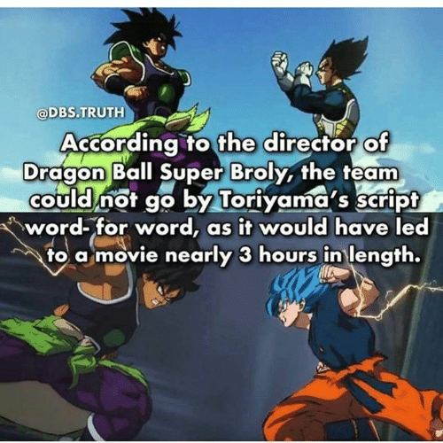 According to the Director of Dragon Ball Super Broly the