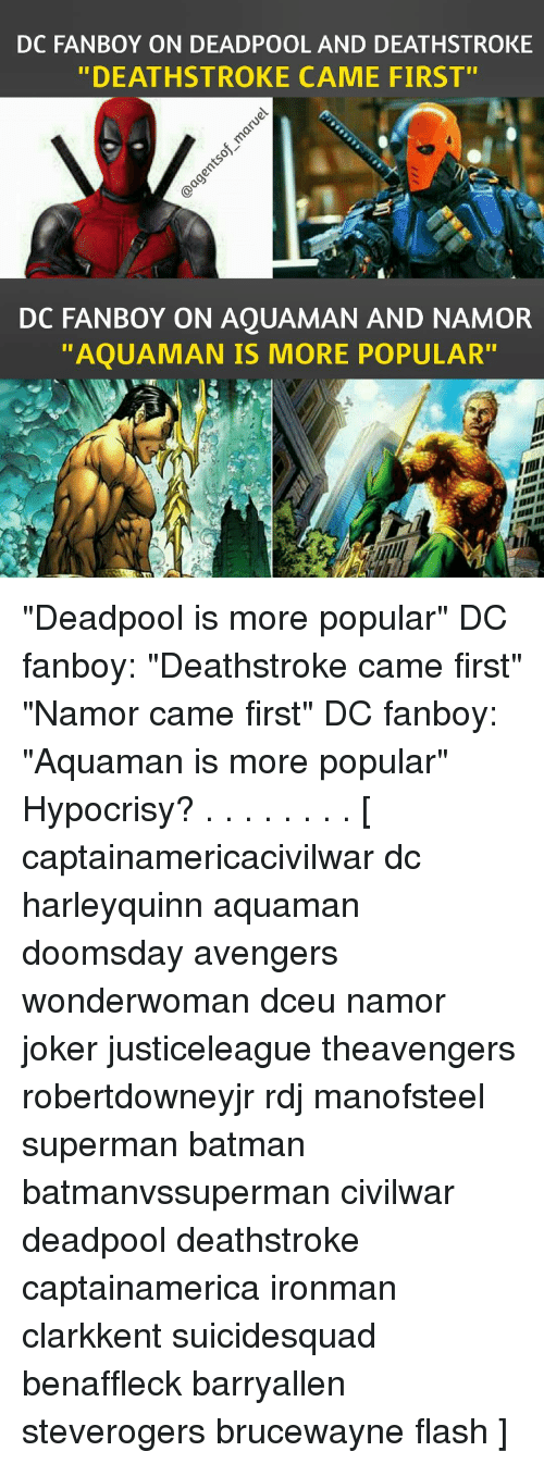 Dc Fanboy On Deadpool And Deathstroke Deathstroke Came First Do