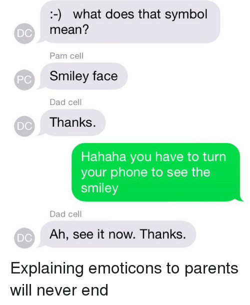 Dc Pc Dc Dc What Does That Symbol Mean Pam Cell Smiley Face Dad
