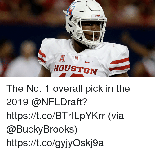 Memes, Houston, and 🤖: dde  HOUSTON The No. 1 overall pick in the 2019 @NFLDraft? https://t.co/BTrILpYKrr (via @BuckyBrooks) https://t.co/gyjyOskj9a