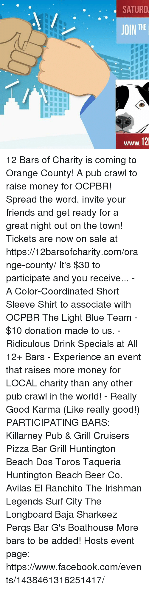 De Rh 12 Bars Of Charity Is Coming To Orange County A Pub Crawl To