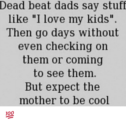 What To Expect On Your Visit Day: Dead Beat Dads Say Stuff Like I Love My Kids Then Go Days