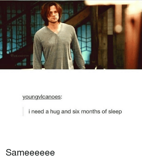 DEANENvy Youngvlcanoes I Need a Hug and Six Months of Sleep
