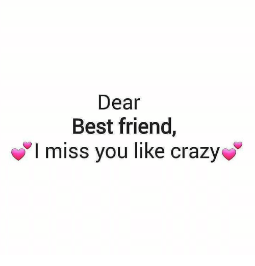 i miss you to a friend