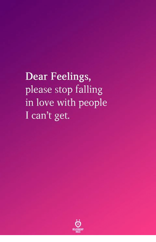 how to stop feelings of love