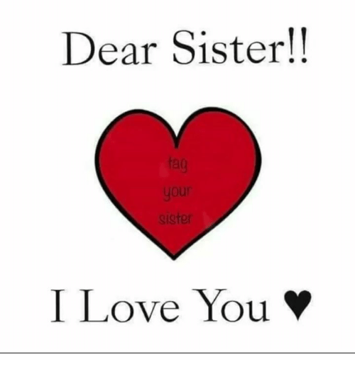 Dear Sister Ister I Love You Funny Meme On Meme