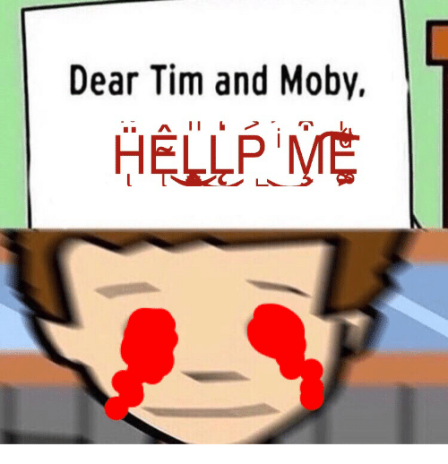 dear tim and moby hellpme moby meme on