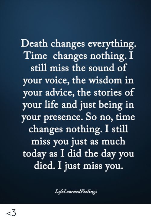 death changes nothing poem