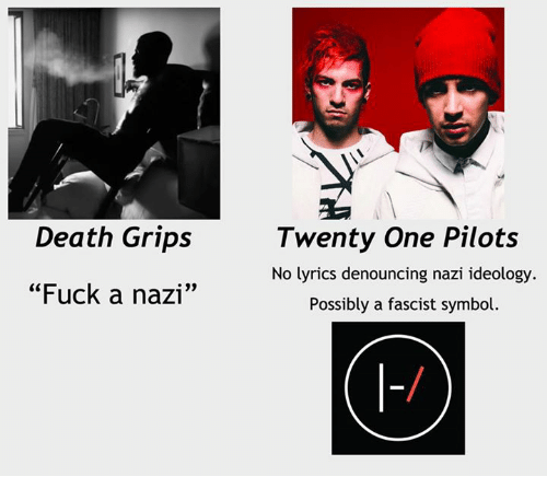death grips fuck a nazi twenty one pilots no lyrics 12657619 death grips fuck a nazi twenty one pilots no lyrics denouncing